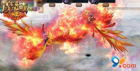 可乐魔域_魔域官方推出的凤凰飞骑正是这种朱红色的凤凰,跟绝版麒麟一样,有冰